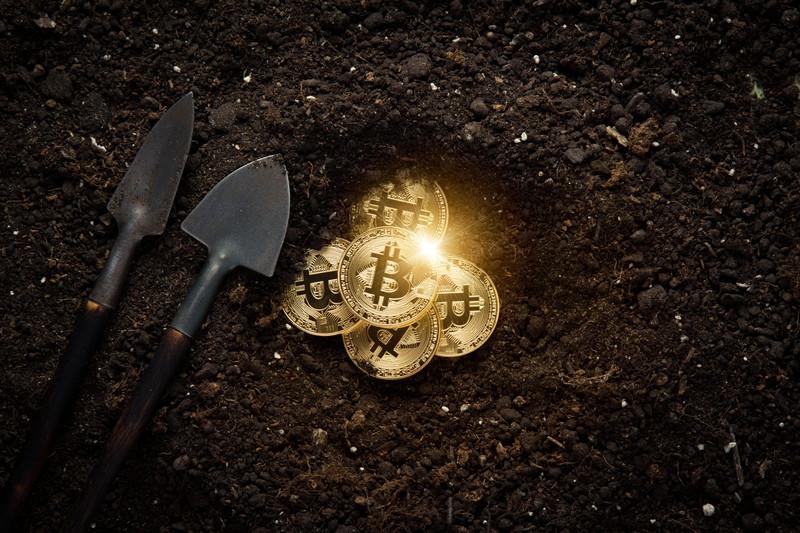 埋まっていたビットコイン