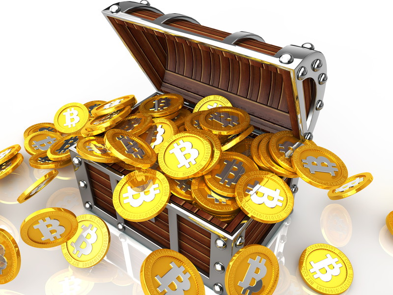 大量のビットコイン